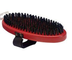T194O Brush Oval Black Nylon