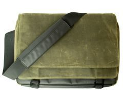Atran Velo sykkelveske, METRO 15 Messenger top bag, Green canvas, AVS