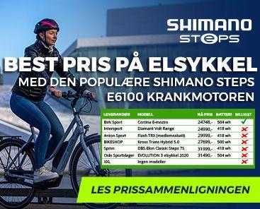 Cortina E-Mozzo: Best pris på elsykkel med Shimano Steps E6100