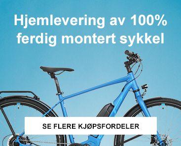 Hjelmlevering av 100% ferdig montert sykkel i Oslo-området